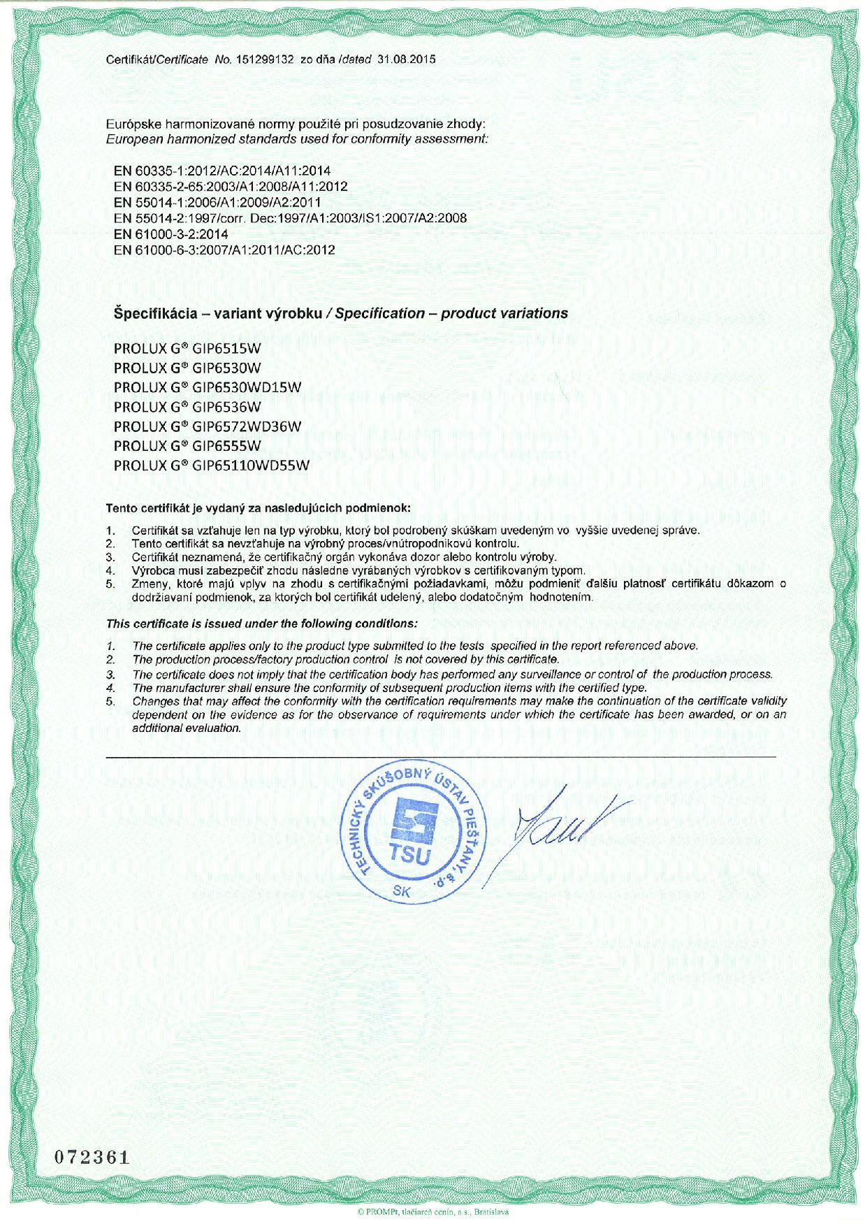 certificates nexa eu